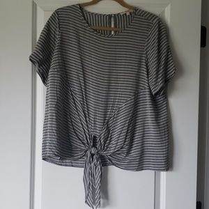 Tie frot blouse